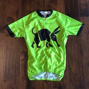 Other - Foska neon green cycling jersey